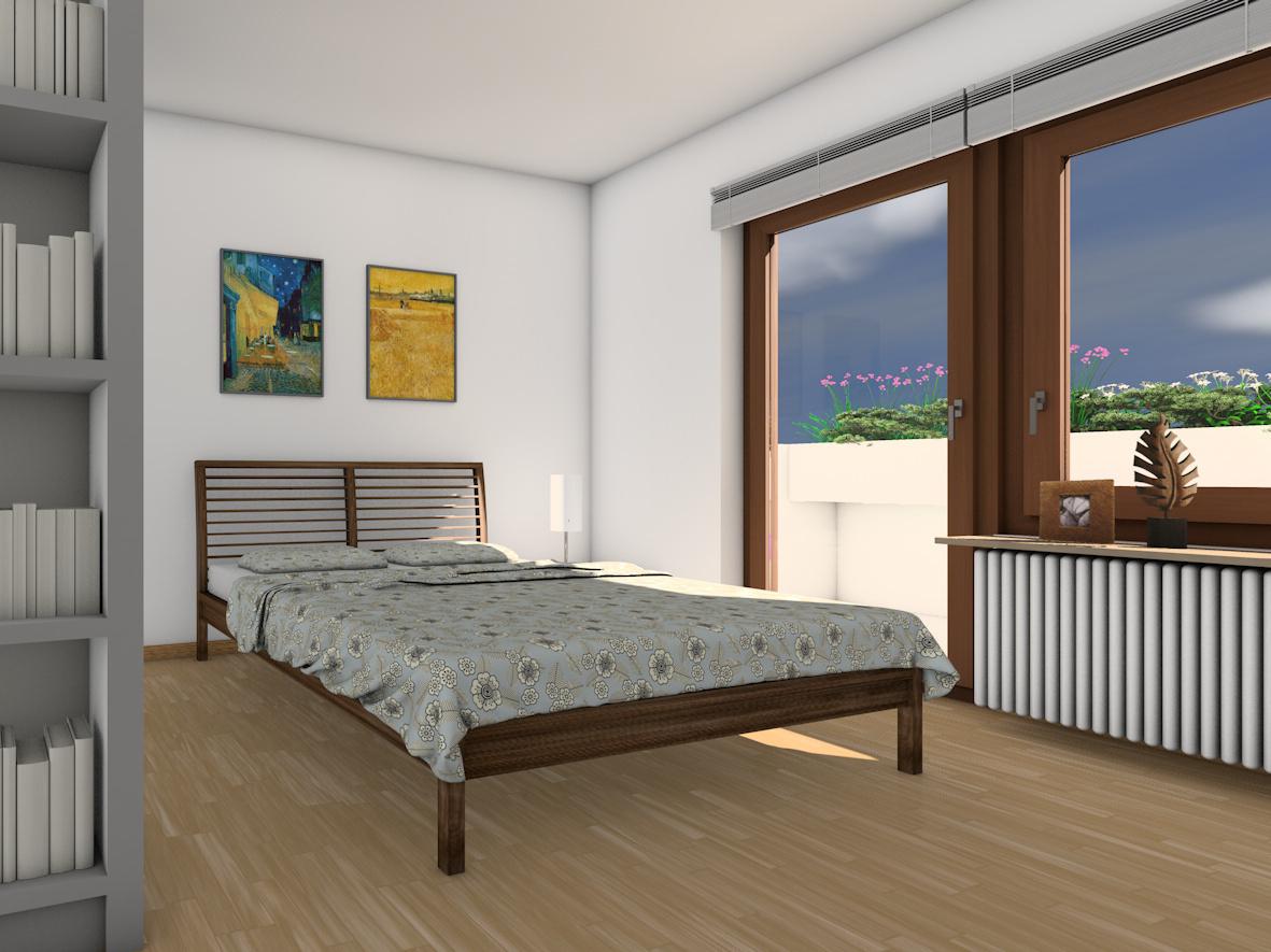 Umwandlung Bestandswohnung | Schlafzimmer Bett