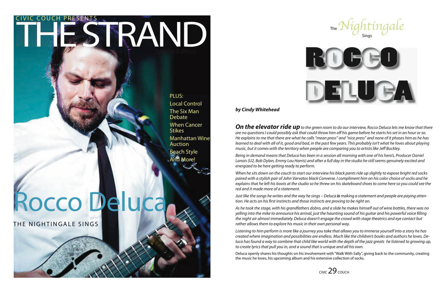 Interview with Rocco Deluca / Strand Magazine