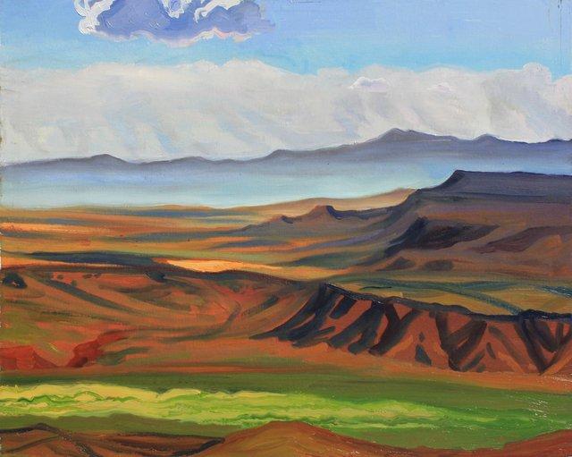 """New Mexico Mesas    24 x 30"""""""