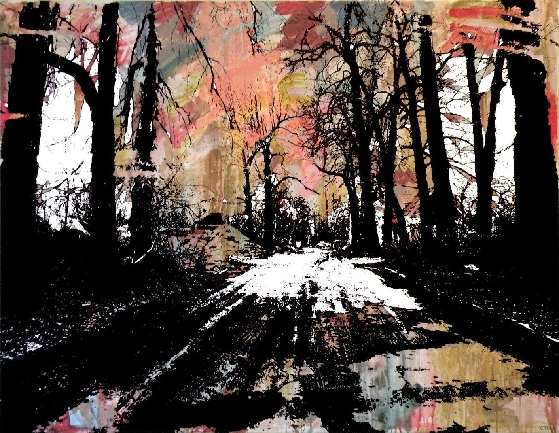 Droga do domu3 130x100 akryl płótno 2010