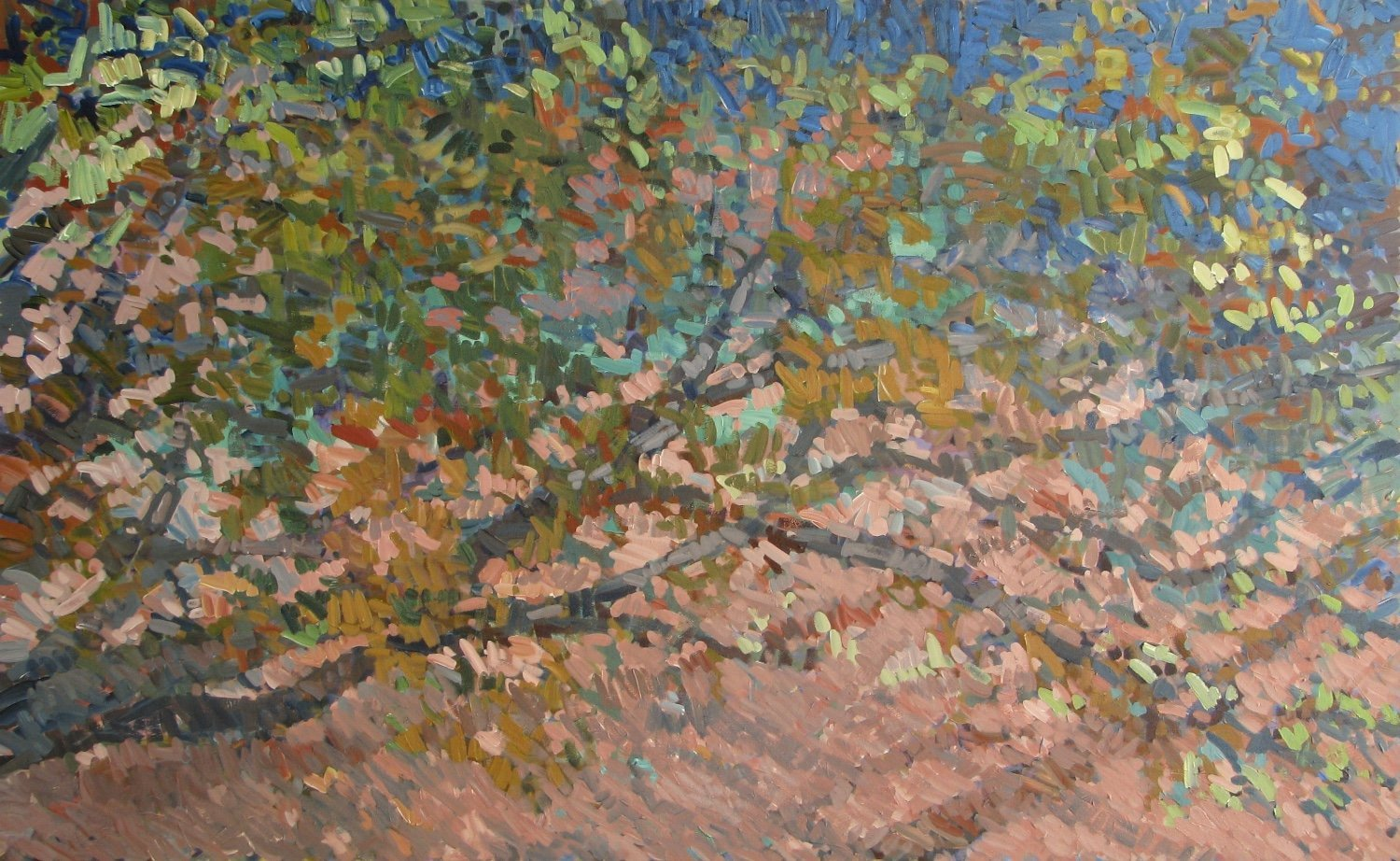 Low Branches, 2015, Acrylic on Canvas, 48 x 78 in. (NLA)