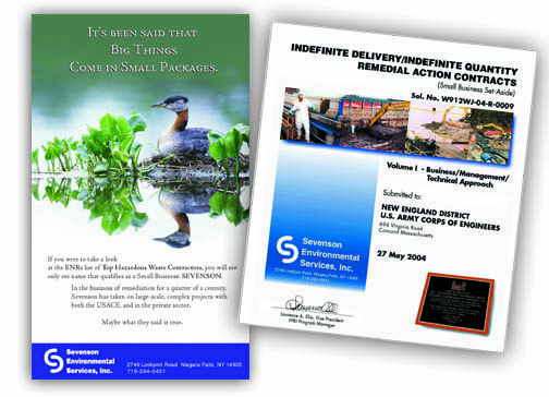 Creative for environmental remediation company.