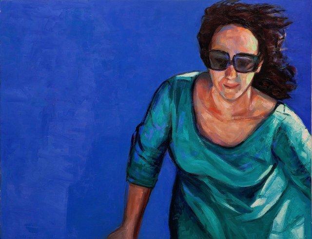 Mulher ao Azul