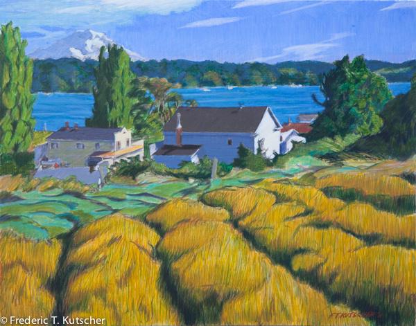 Lavender Rows & Hillside - Burton