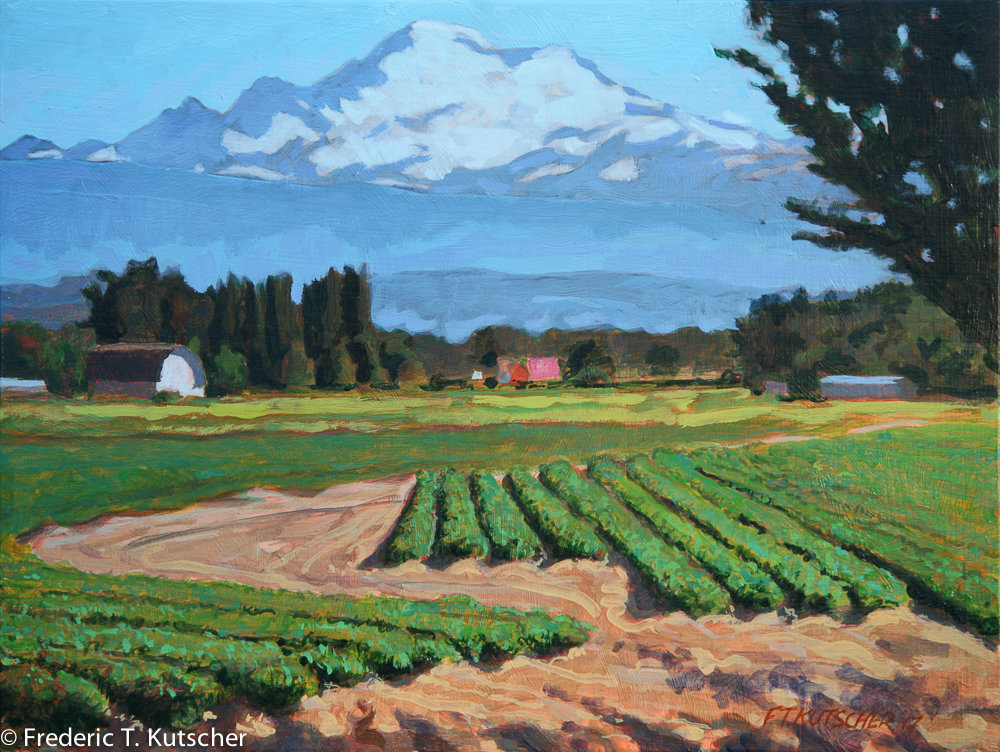 Through Farm toward Mount Baker