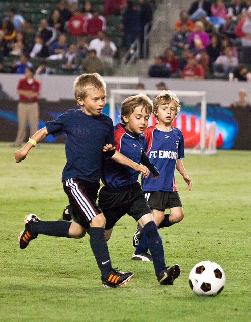 Brazil Stars vs FC Encino All Stars<br>6/16/2012 U8B Halftime Game<br>at Chivas vs Real Salt Lake