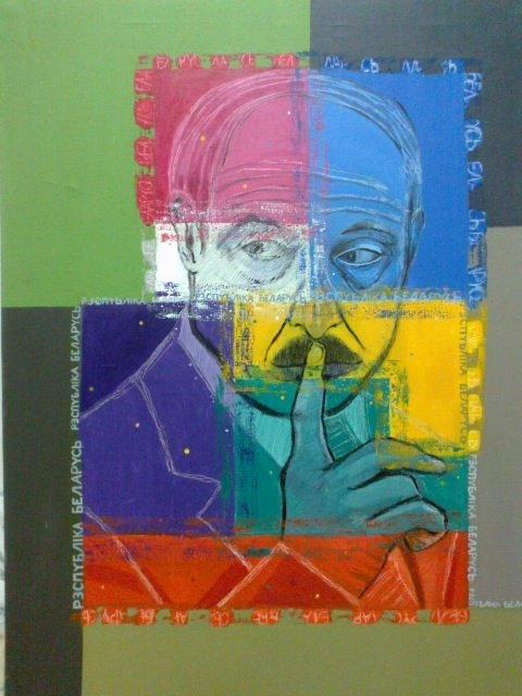 Dyktatorzy: Łukaszenka, 70x100 akryl płótno