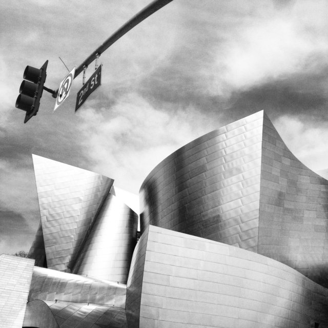 WALT DISNEY CONCERT HALL - B&W 2