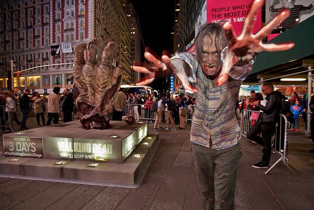 AMC's Walking Dead publicity stunt