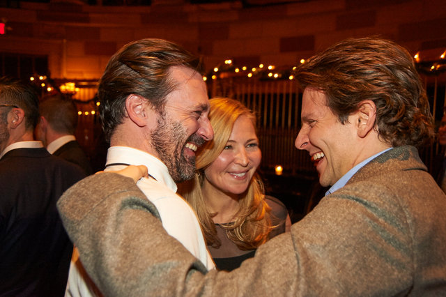 John, Jennifer and Bradley celebrate The Elephant Man on Broadway
