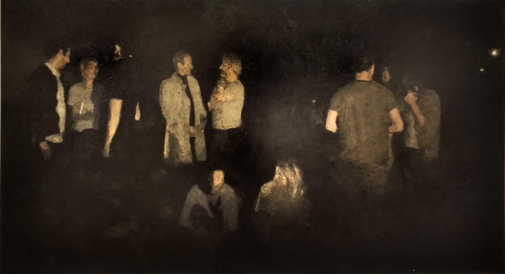 'Nuit Debout11'         180x100 cm. oil on canvas.
