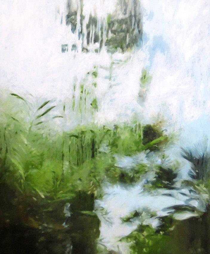 'Il faut cultiver notre jardin 08'  90x115 cm. oil on canvas. 2016.