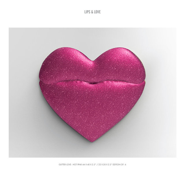 "GLITTER LOVE - HOT PINK 44 X 40 X 2.5"" : 22 X 20 X 2.5"" EDITION OF- 6.jpg"