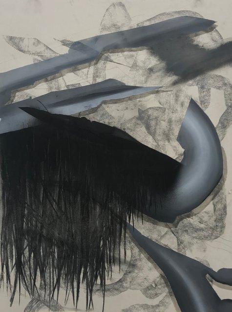 Untitled, 75 x 100 cm, Öl / Kohlestift auf Karton