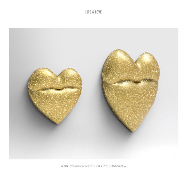 "GLITTER LOVE 2- GOLD 44 X 40 X 2.5"" : 22 X 20 X 2.5"" EDITION OF- 6.jpg"