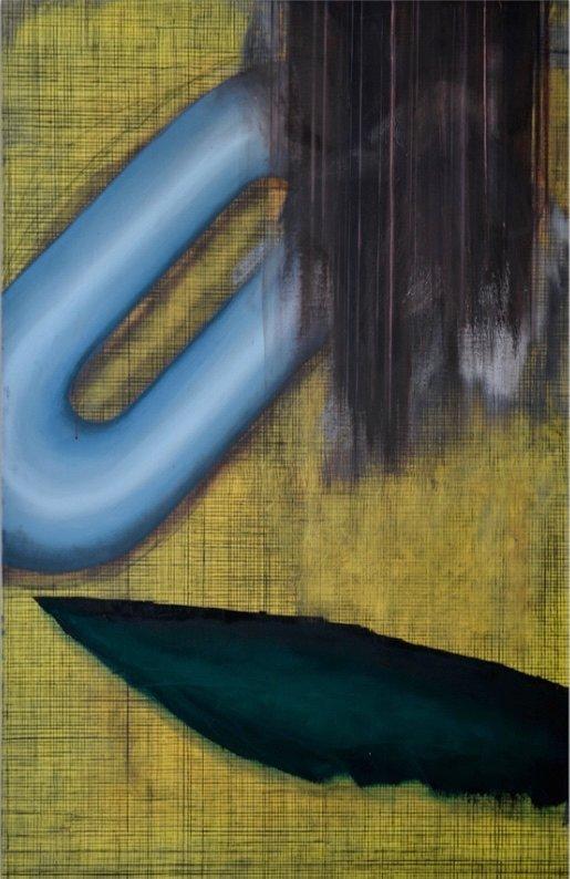 Untitled, Öl und Kohle auf Leinwand, 115 x 173 cm, 2017