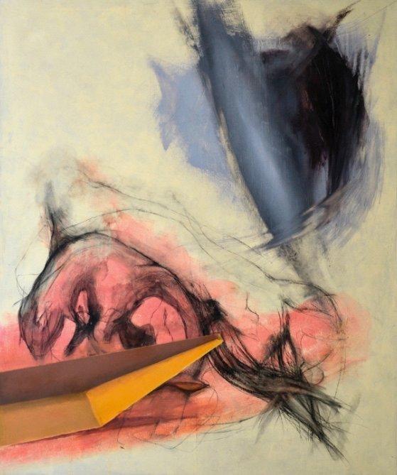 Untitled, Öl und Kohle auf Leinwand, 150 x 170 cm, 2017