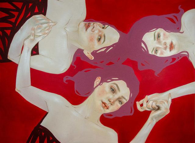 Die Töchter des Apfelbaums1, 190 x 140 cm, Öl und Acryl auf Leinwand.jpg
