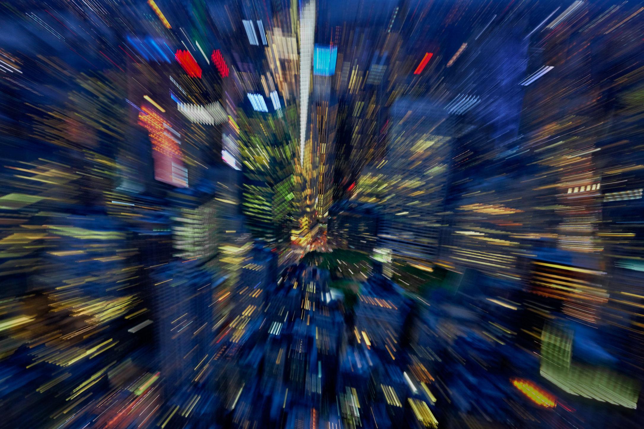 City / NY Nightscapes / 6th Avenue