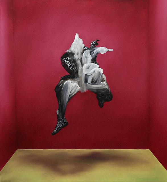 16 Tanz der Kraft um eine Mitte.2020.120x110cm.oil.jpg