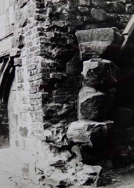 Stone work and archway Cathedral buildings  by Alison Gracie