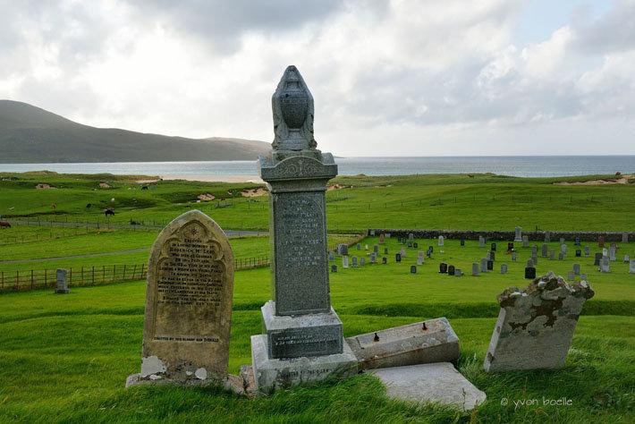 Hébrides extérieures, île de Lewis, cimetière de Scarista