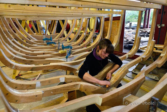 Charpentier de marine aux Ateliers de l'Enfer à Douarnenez ‐ Finistère