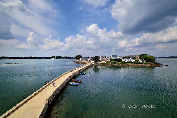 Le pont et l'île de Saint-Cado, ria d'Etel, Morbihan #1