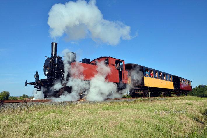 Locomotive à vapeur Henschel à La Tremblade ‐ Charente‐Maritime