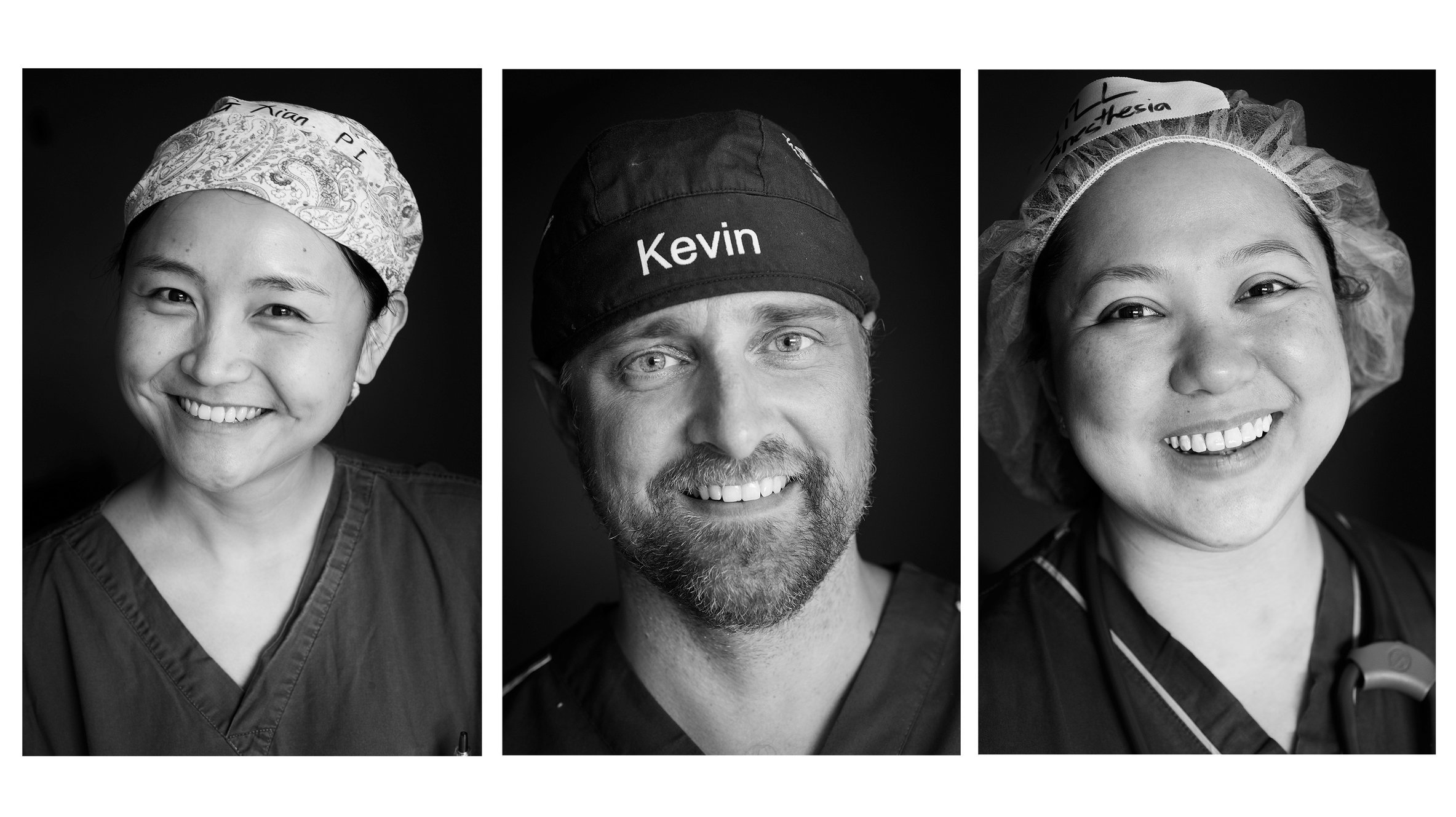 Zhang, Kevin, Jill, Doctors. Operation Smile Volunteers