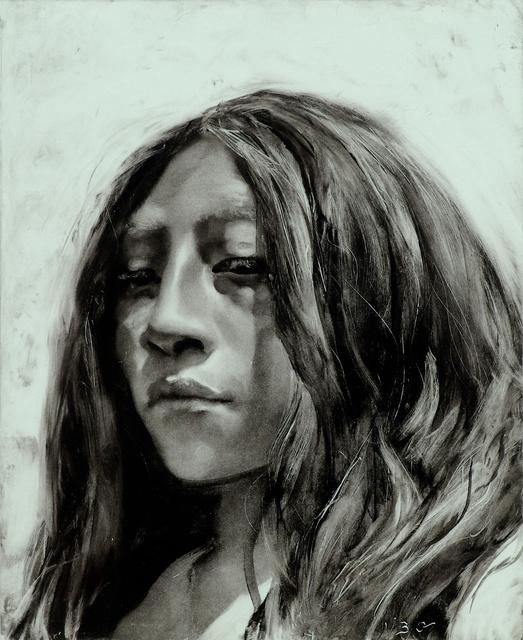"""Mayan Girl, 20 x 16"""""""