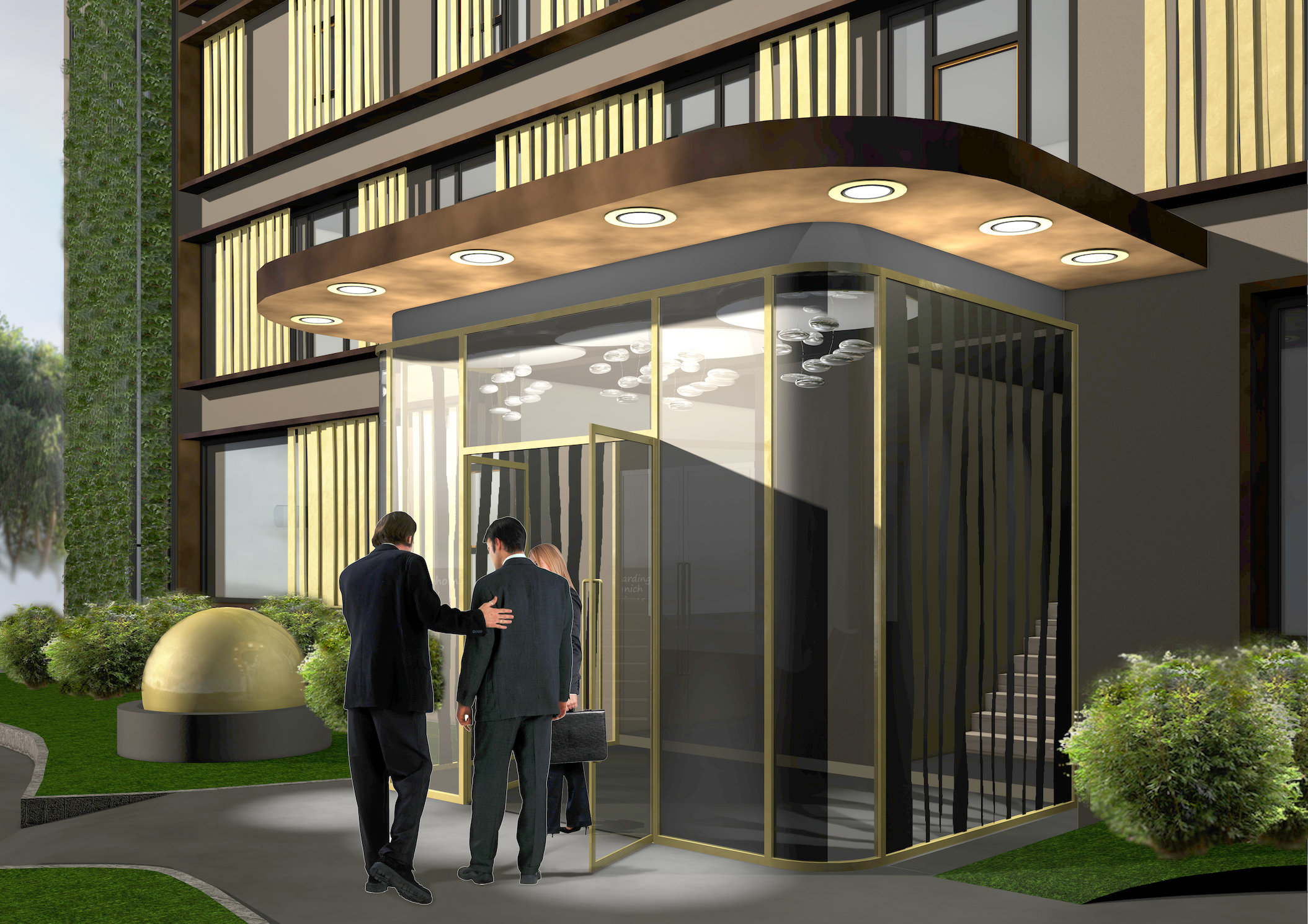 Boardinghotel Golden Ball | Dornach | Eingang