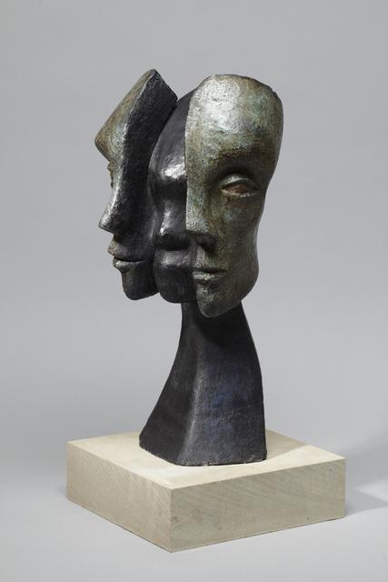 Mask Revealing   2008,    48 x 30 x 26cm  Painted ceramic, RP£1750