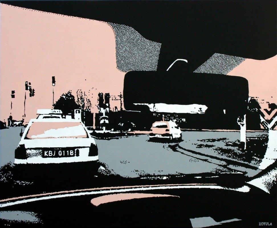 powrót do domu 60 x 73, akryl na płótnie, 2009