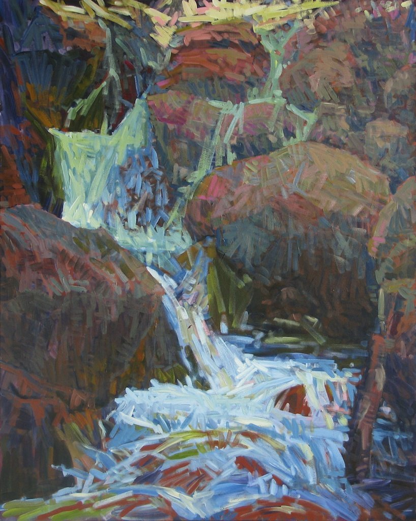 Small Fall Hell Roaring Creek, 2014, Acrylic on Canvas, 60 x 48 in.