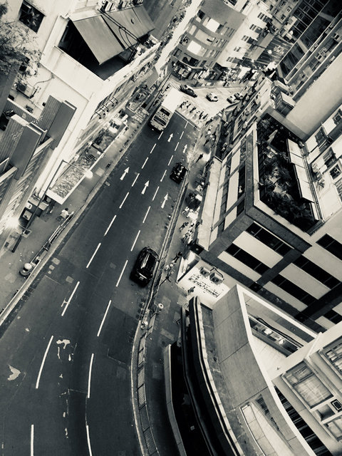 Central, looking down