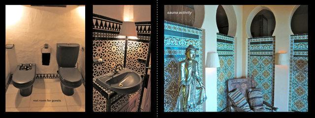 handmade tiles part of Arab historical,