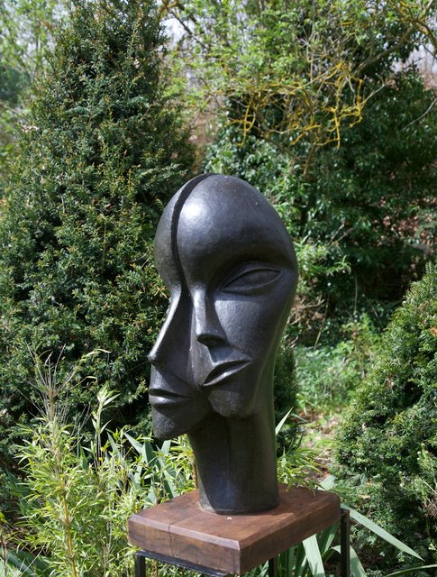Man and Woman 1998, 68 x 35 x 36cm  Bronze Resin