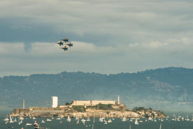 Blue Angles over Alcatraz Island