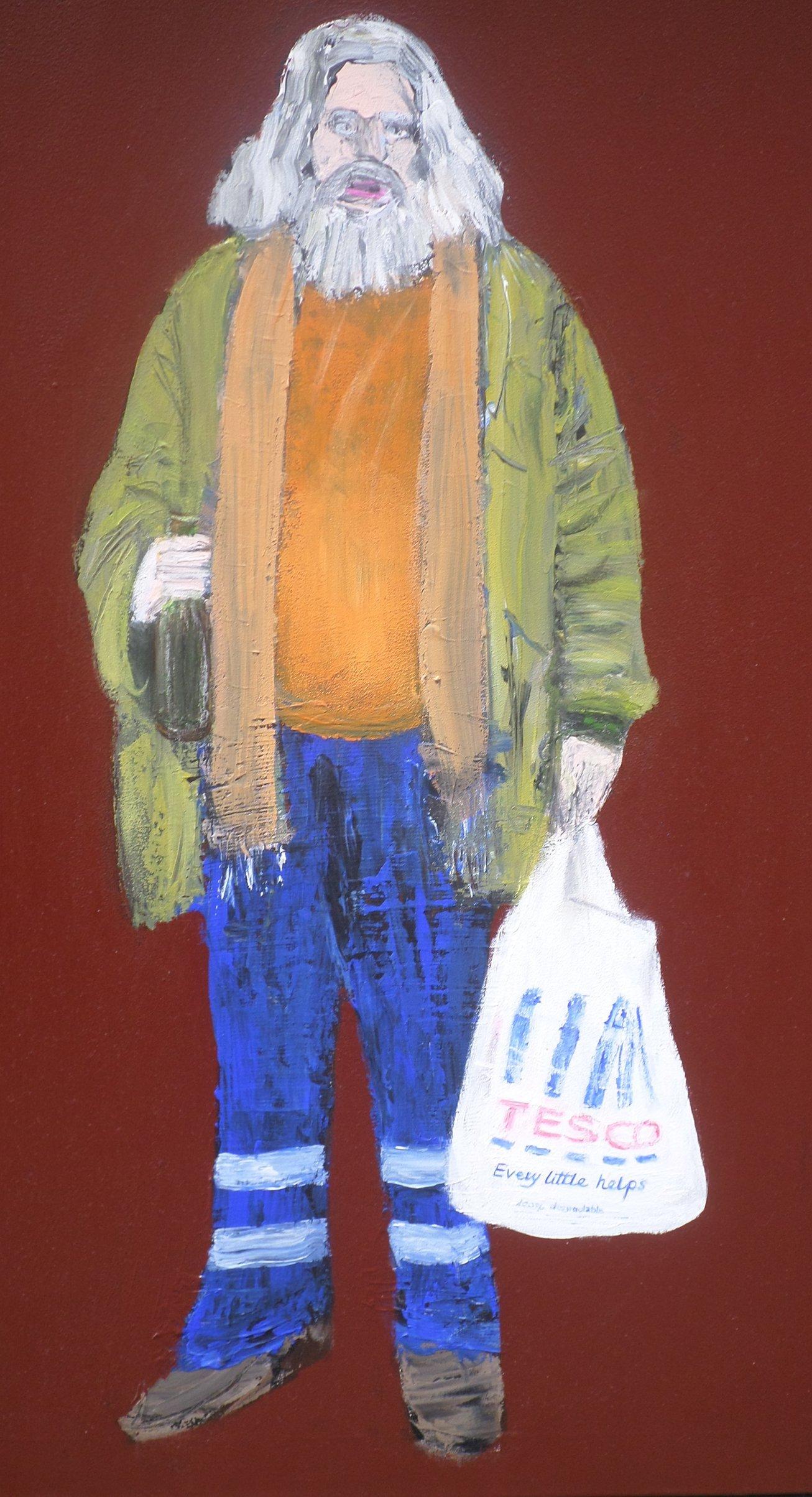Hobo 2, 80x60 akryl płótno 2012