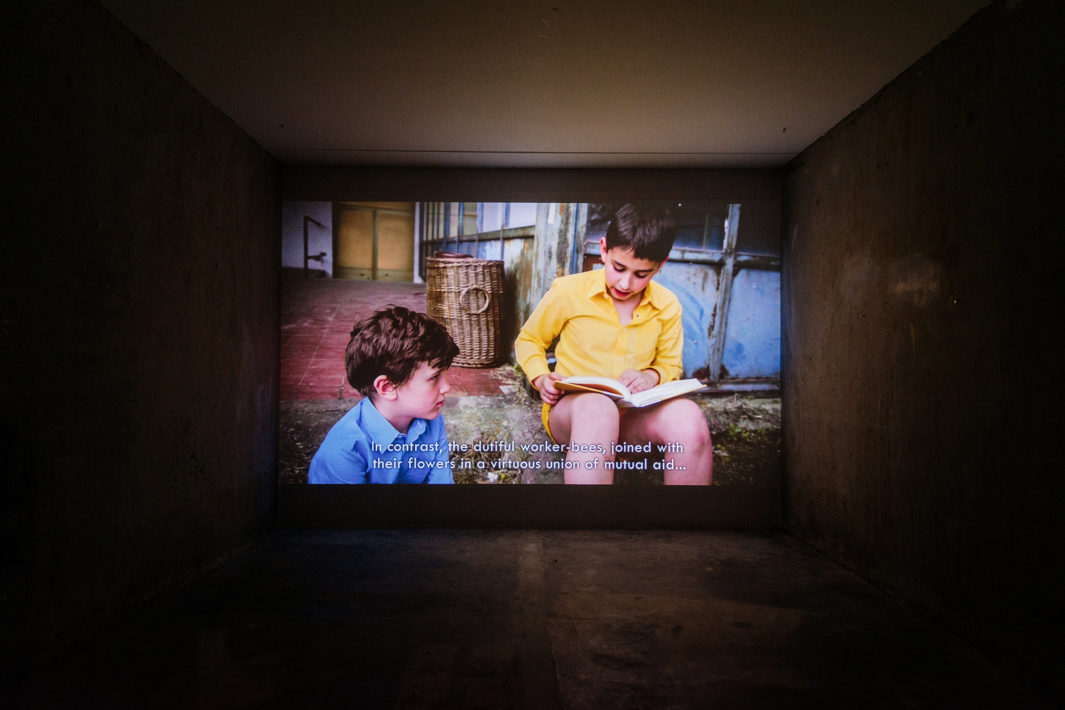 Mikhail Karikis, Children of Unquiet, 2014, installation view A Tale of a Tub. Photo: Fabian Landewee