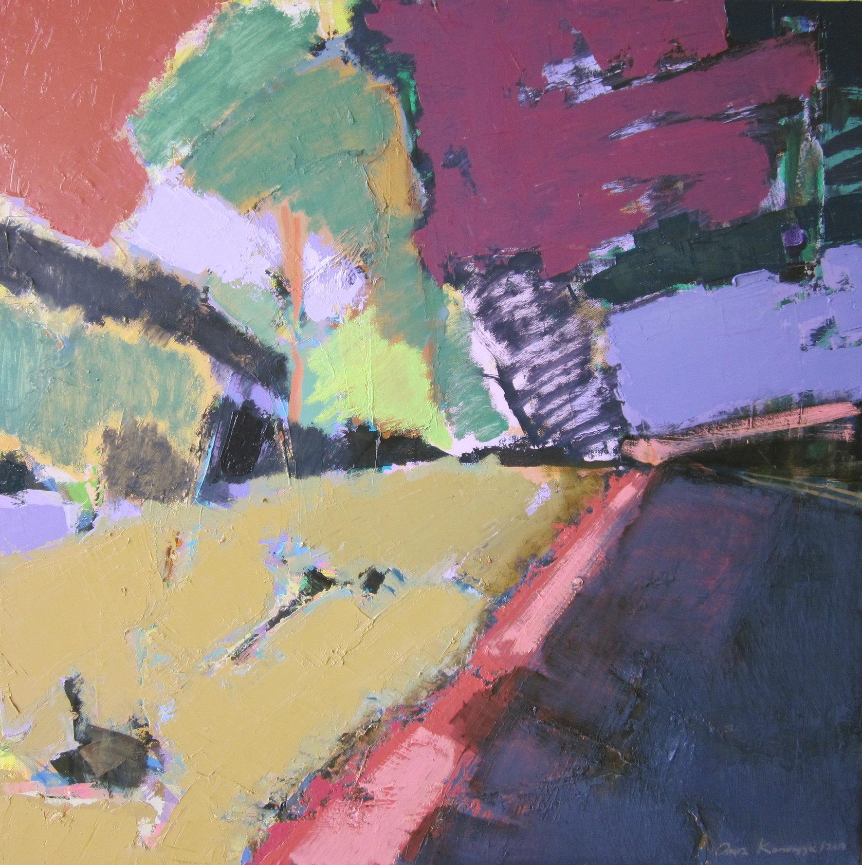 'Landscape. Summer road'