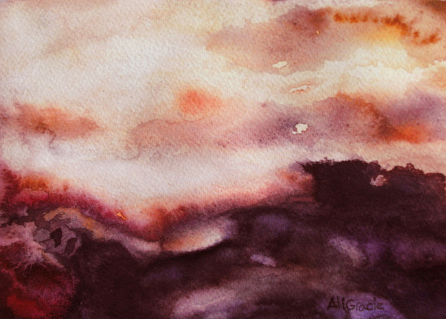 Atmospheric Clouds at Sunrise by Alison Gracie