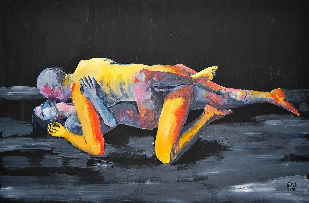 Amantes Amentes 120x80 akryl płótno 2015