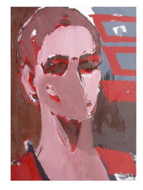 """""""Twarz II"""", olej na płótnie, 70 x 50"""
