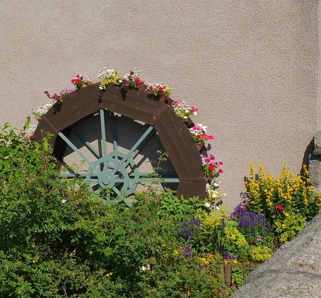 Waterwheel Flower Garden by Alison Gracie