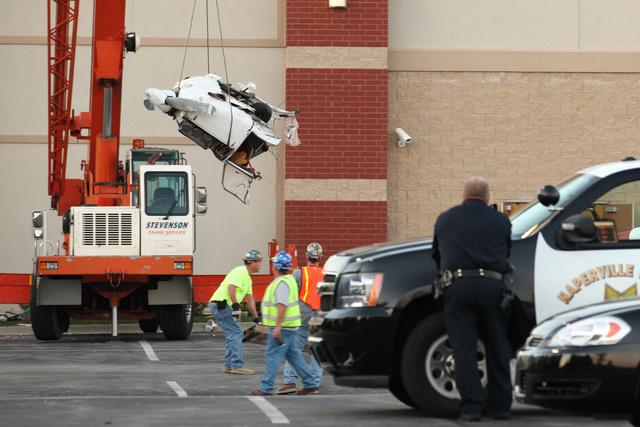 Small Plane Crashes into Fitness Center