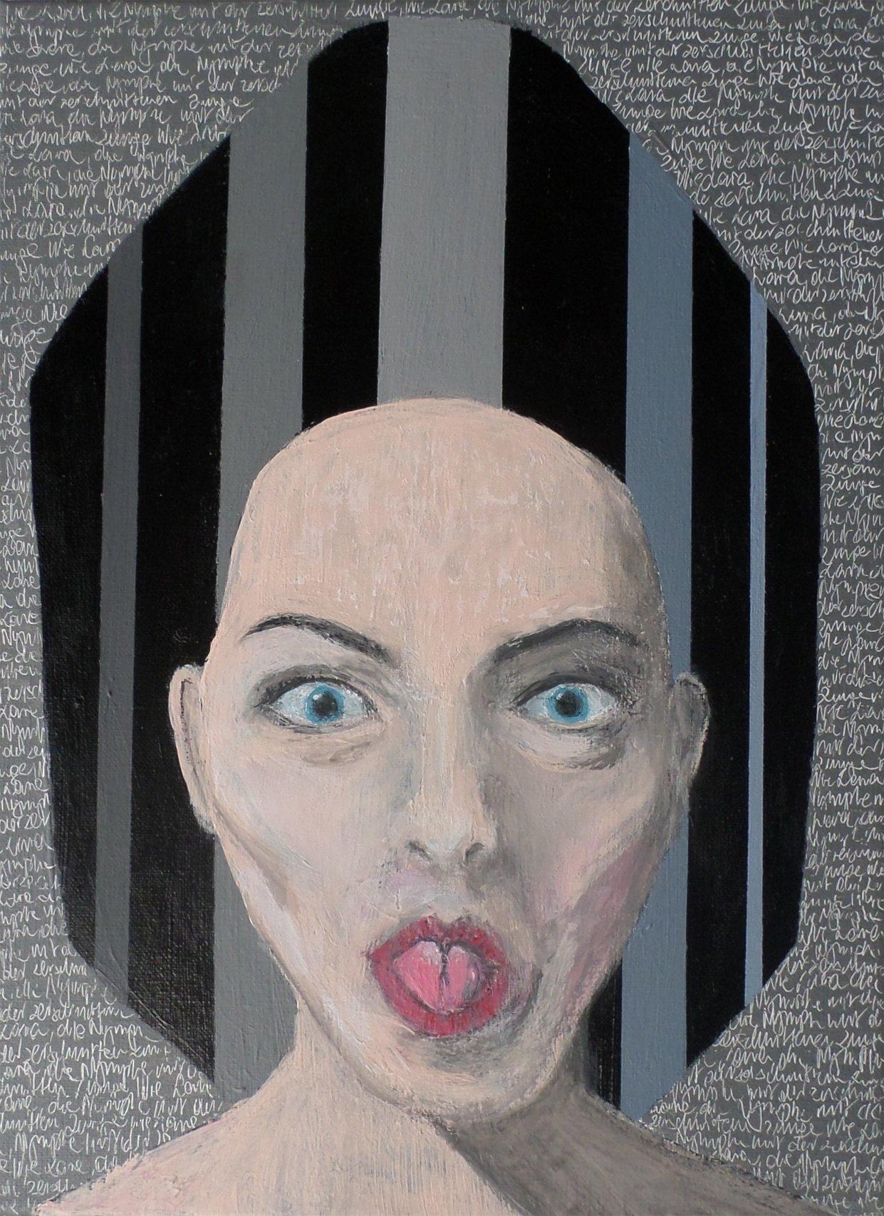 Lara 2, 40x30 akryl płótno 2015