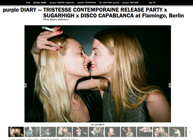purple DIARY   TRISTESSE CONTEMPORAINE RELEASE PARTY x SUGARHIGH x DISCO CAPABLANCA at Flamingo  Ber