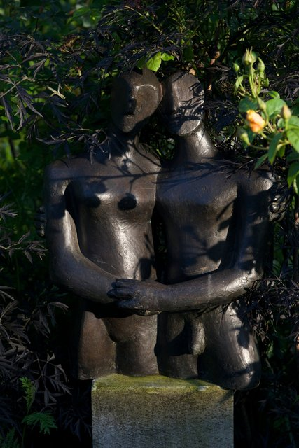 Etruscan Couple 1 2005    67 x 60 x 20cm   Bronze Resin RP:£3200